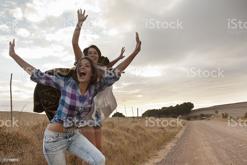 Girls happy stock photo