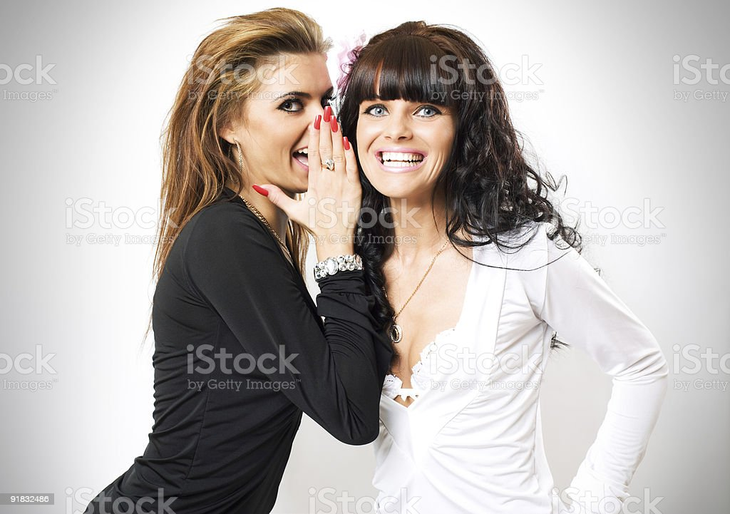 girls have secrets royalty-free stock photo