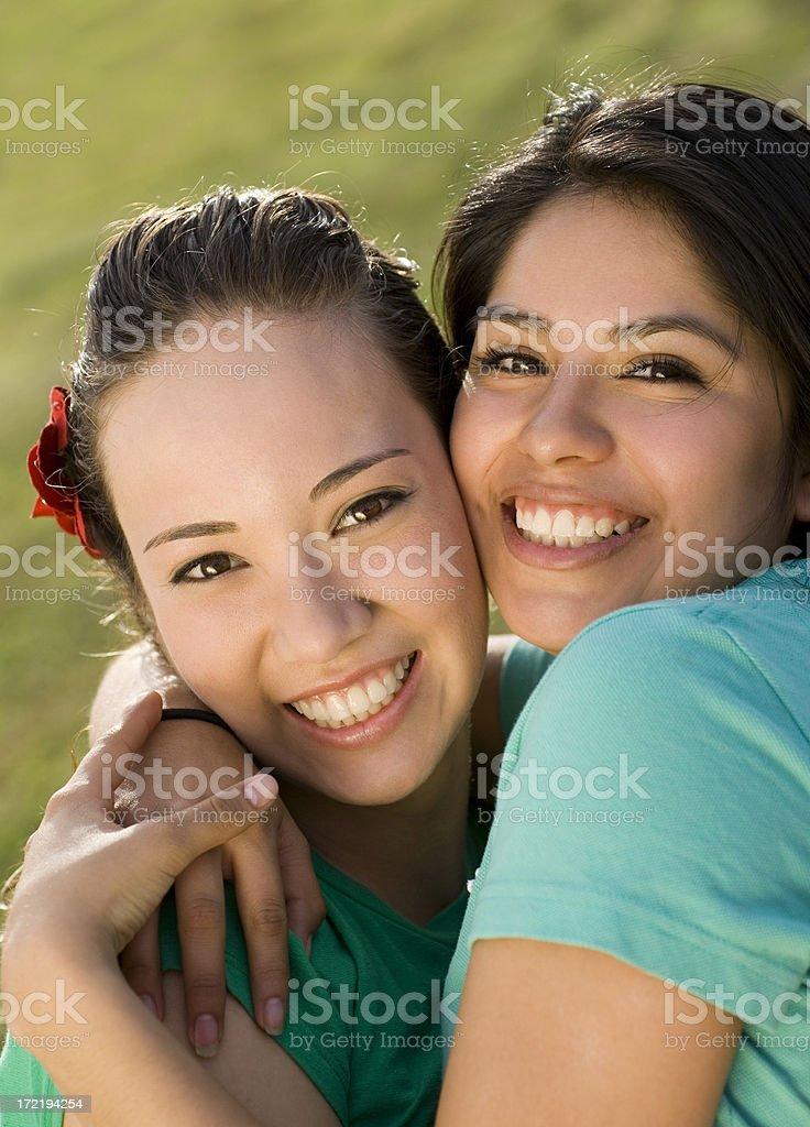 Girls having fun 2 royalty-free stock photo