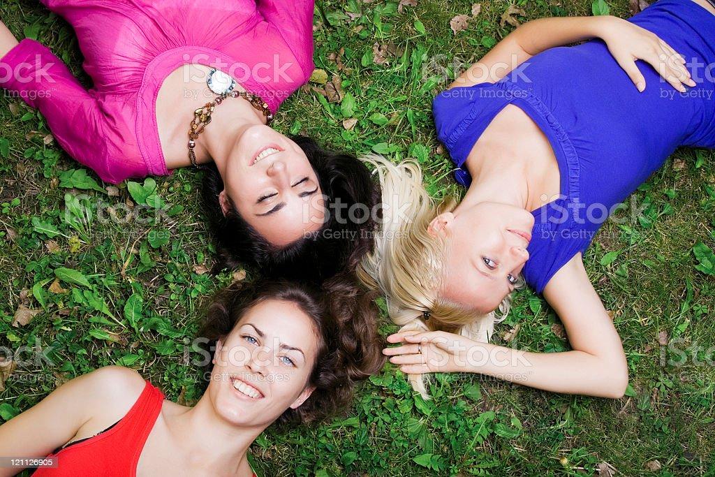 Girls having fun stock photo