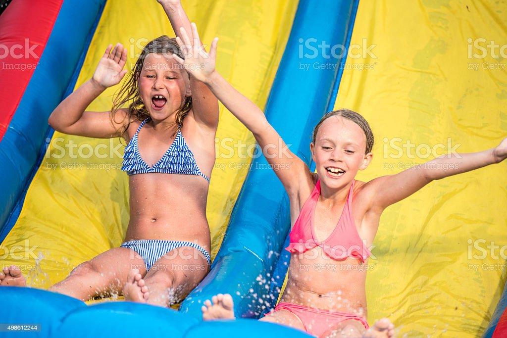 Girls having fun together stock photo