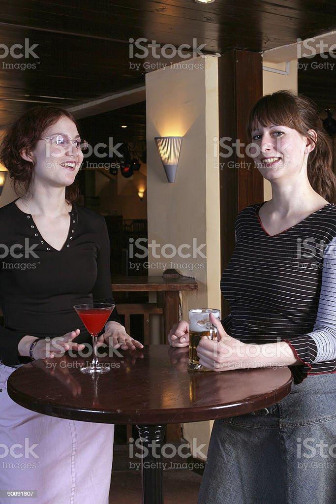 Girls in a night club stock photo