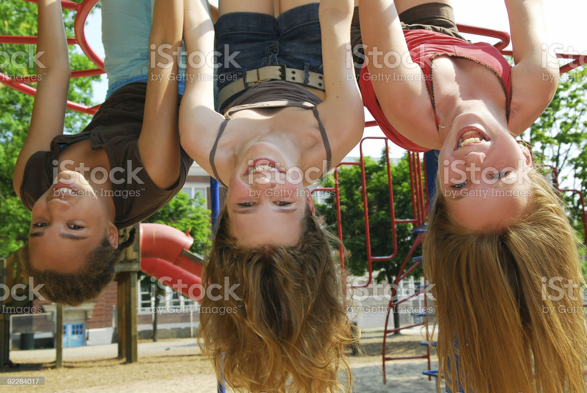 Girls in a park royalty-free stock photo