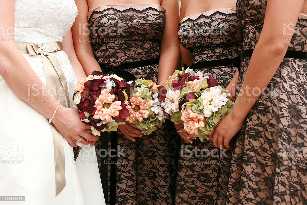 Girls in a Row royalty-free stock photo