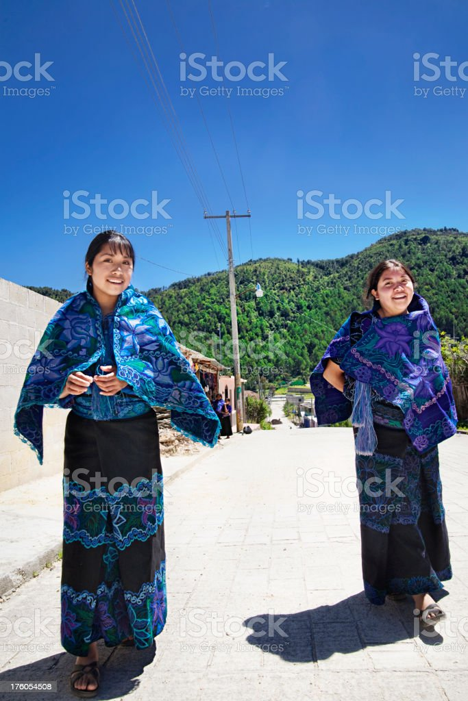 Girls in Chiapas royalty-free stock photo
