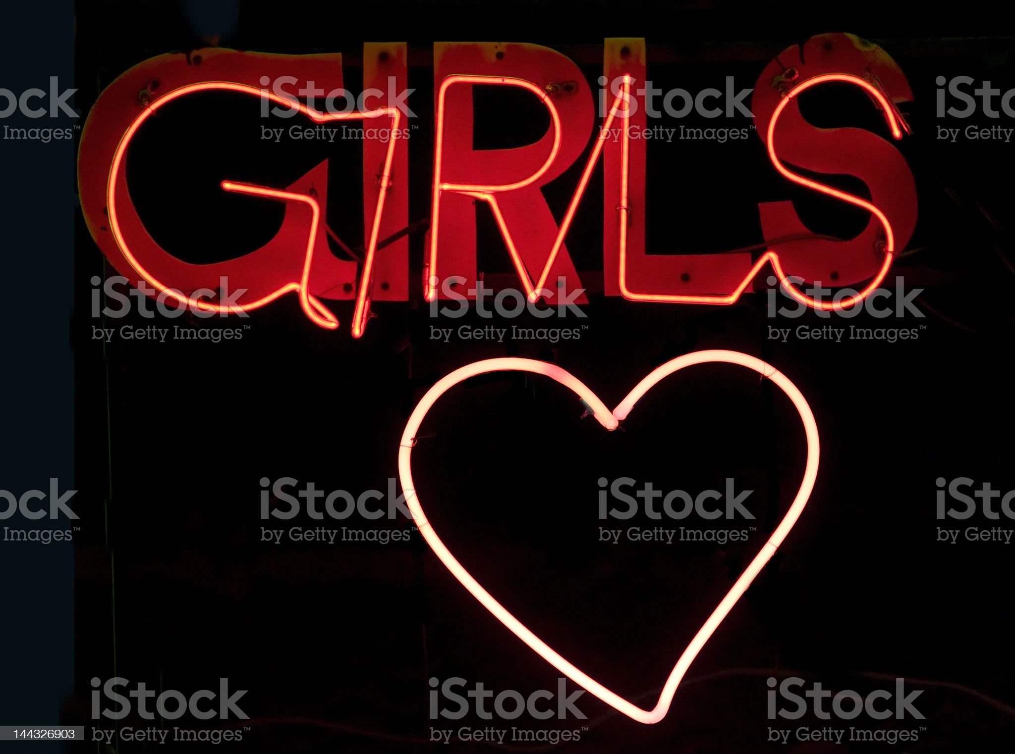Girls in neon royalty-free stock photo