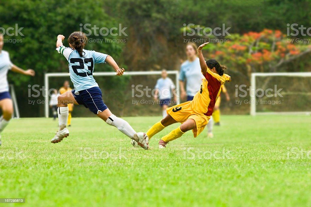 Girls in Soccer stock photo