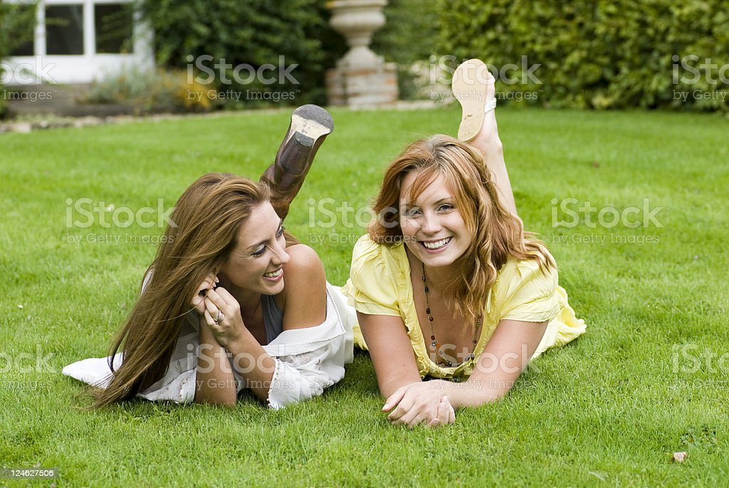 Girls in the park royalty-free stock photo