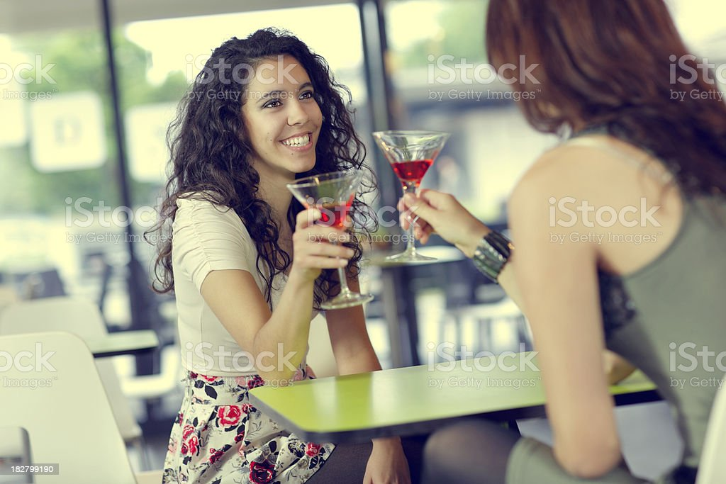 girls inthe louge bar royalty-free stock photo