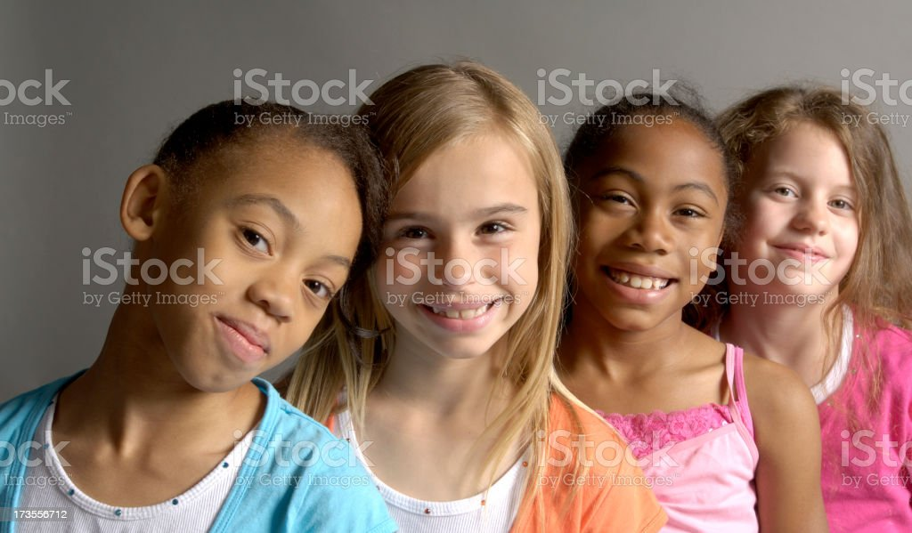 Girls just wanna have fun royalty-free stock photo