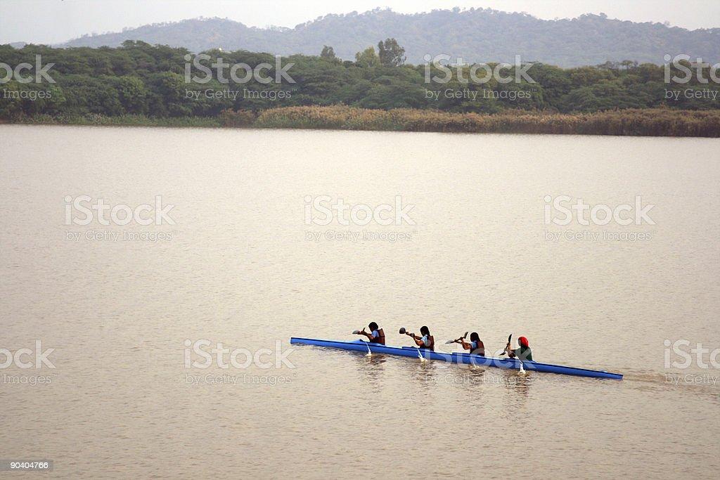 Girls Kayaking 2 stock photo