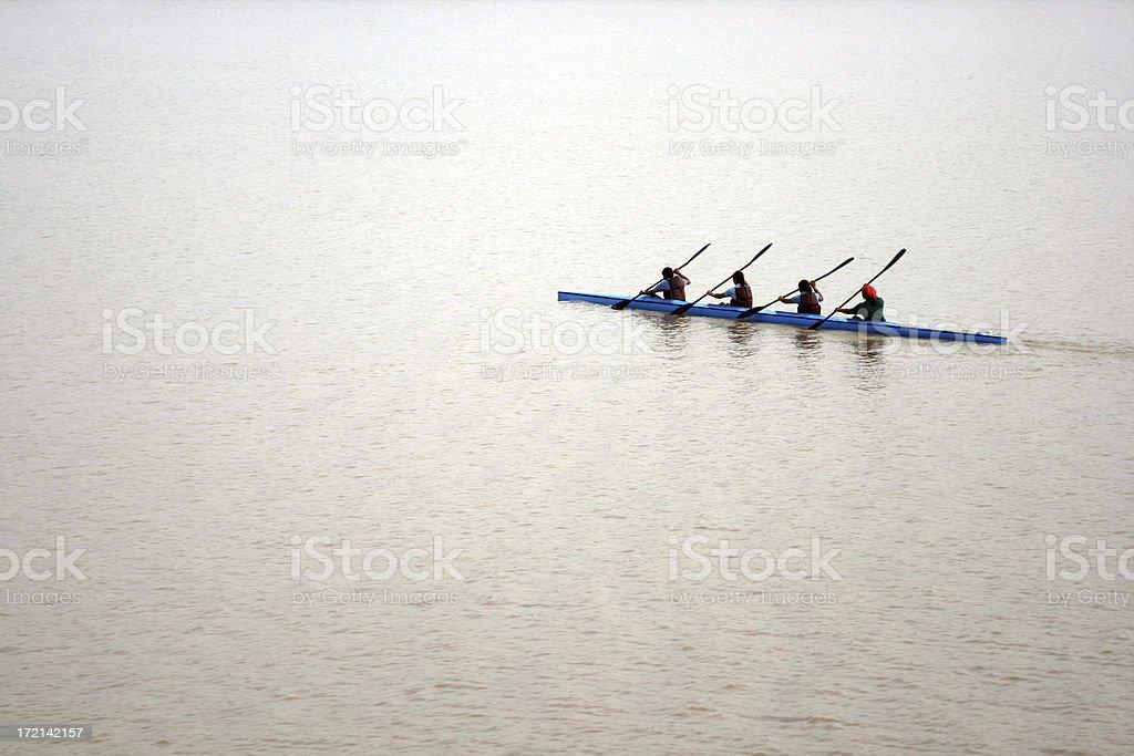 Girls Kayaking 3 royalty-free stock photo