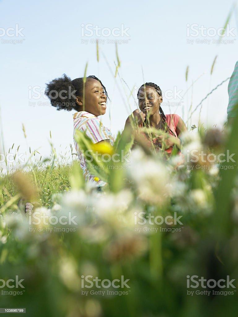 Girls laughing royalty-free stock photo