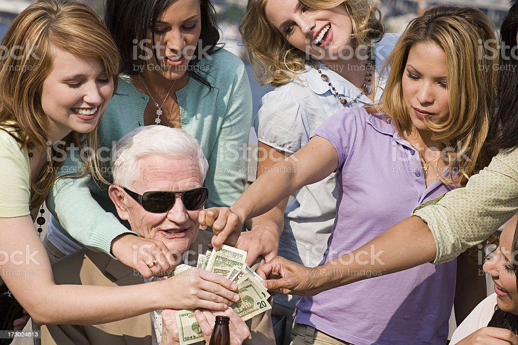 Girls Like Cash stock photo