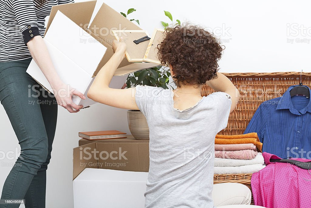 Girls moving in stock photo