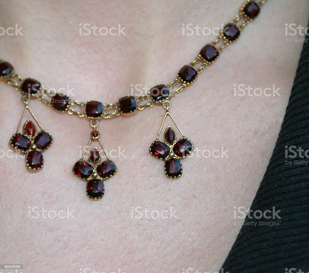 Girl's necklace royalty-free stock photo