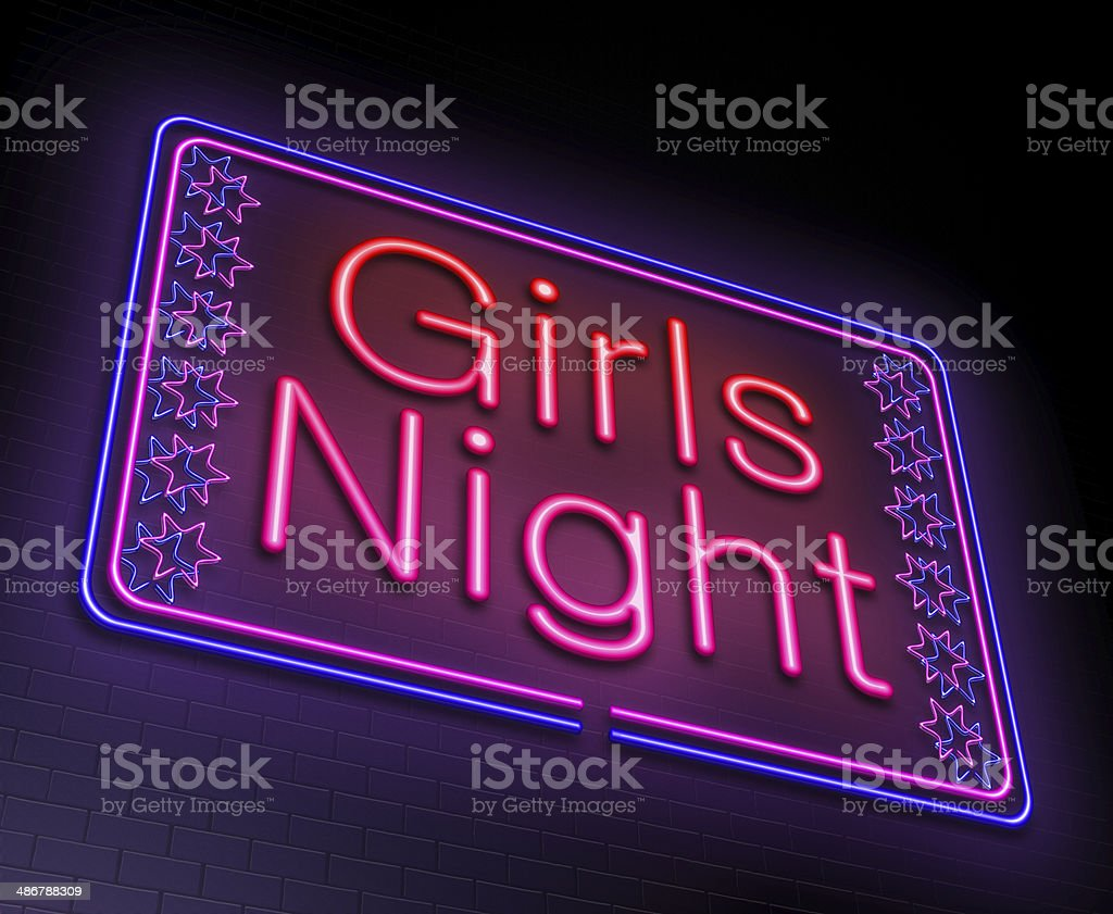 Girls night concept. stock photo