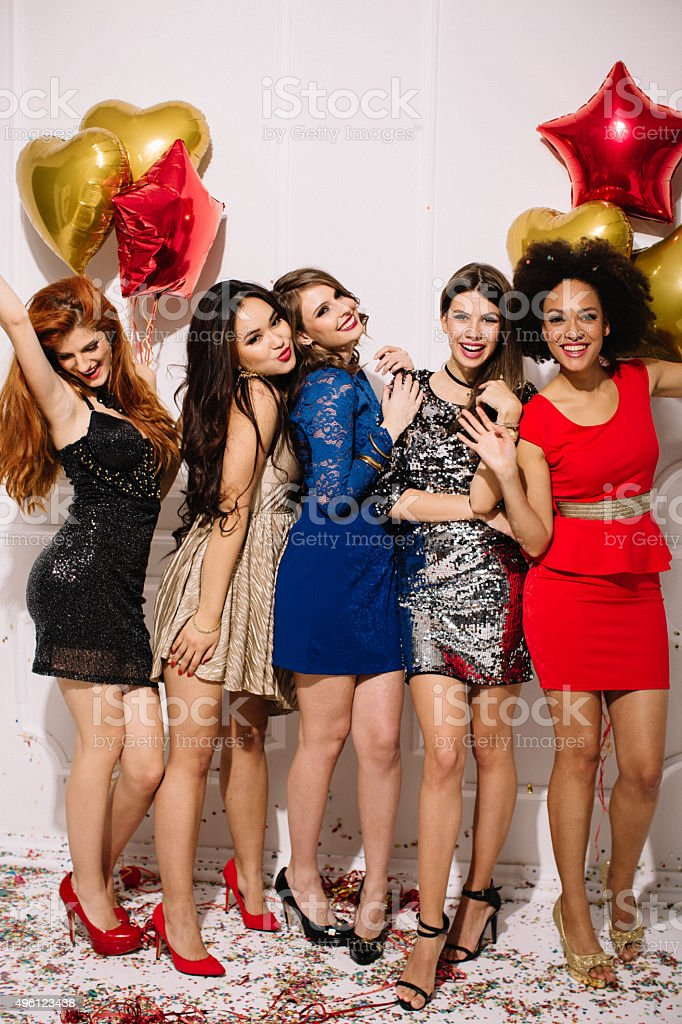 Girls night out. stock photo