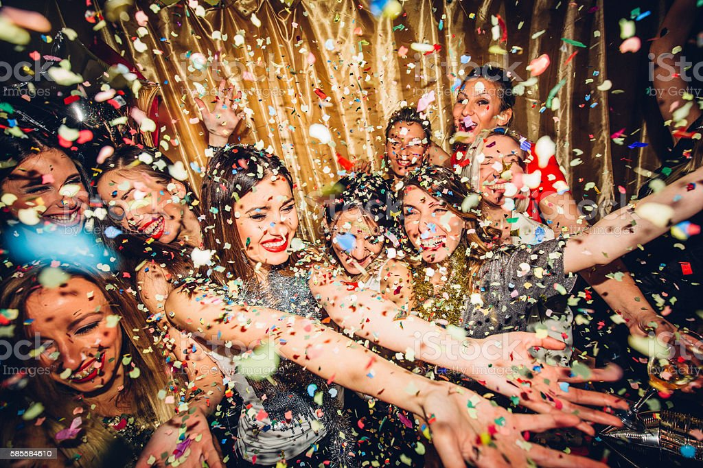 Girls night out stock photo
