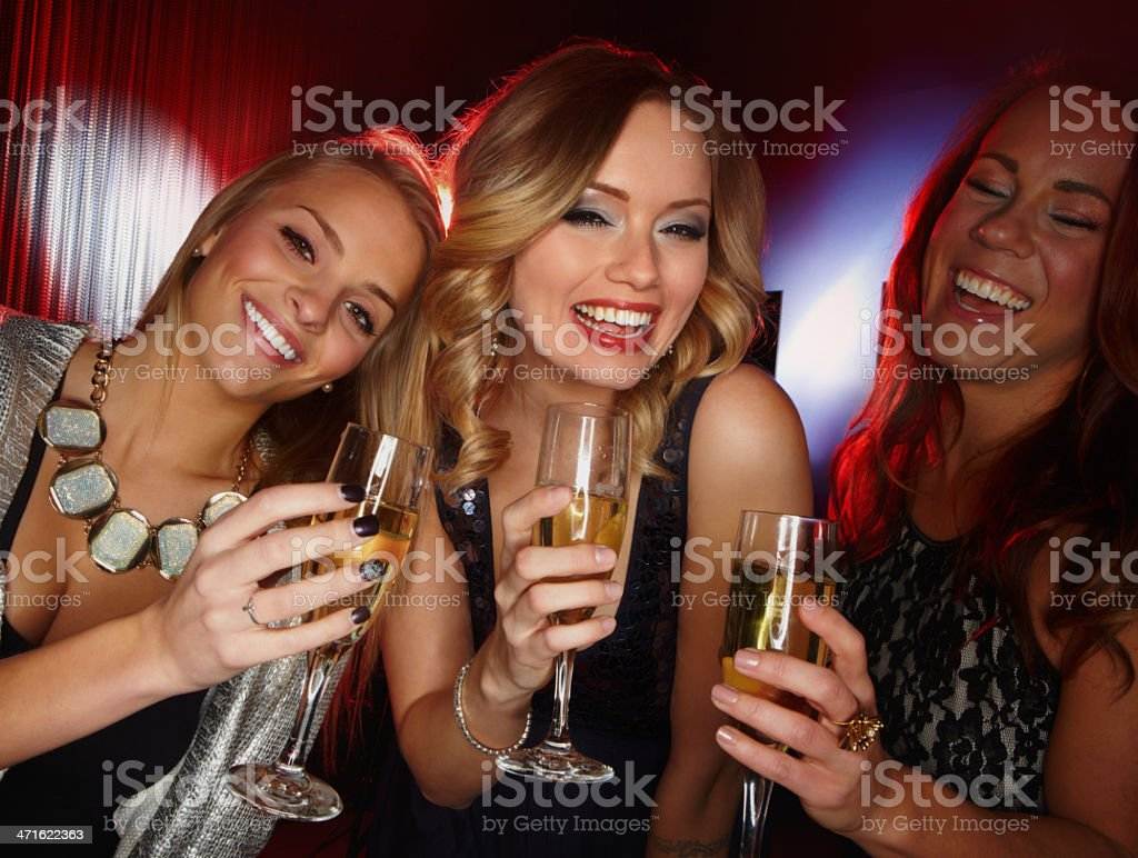 Girls' night royalty-free stock photo