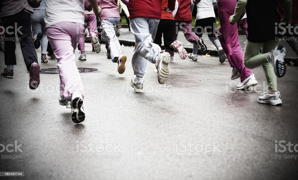 Girls on running race royalty-free stock photo