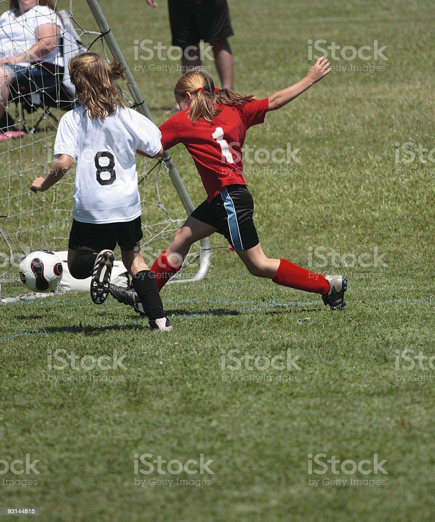 Girls on Soccer Field 53 royalty-free stock photo