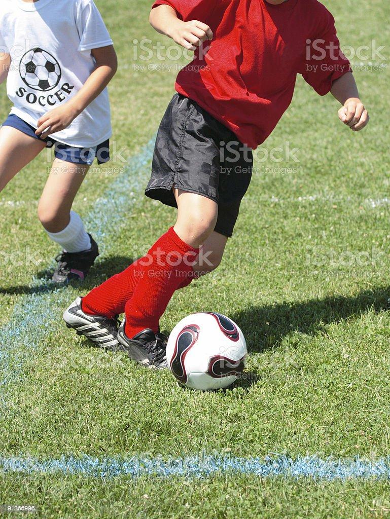 Girls on Soccer Field 54 royalty-free stock photo