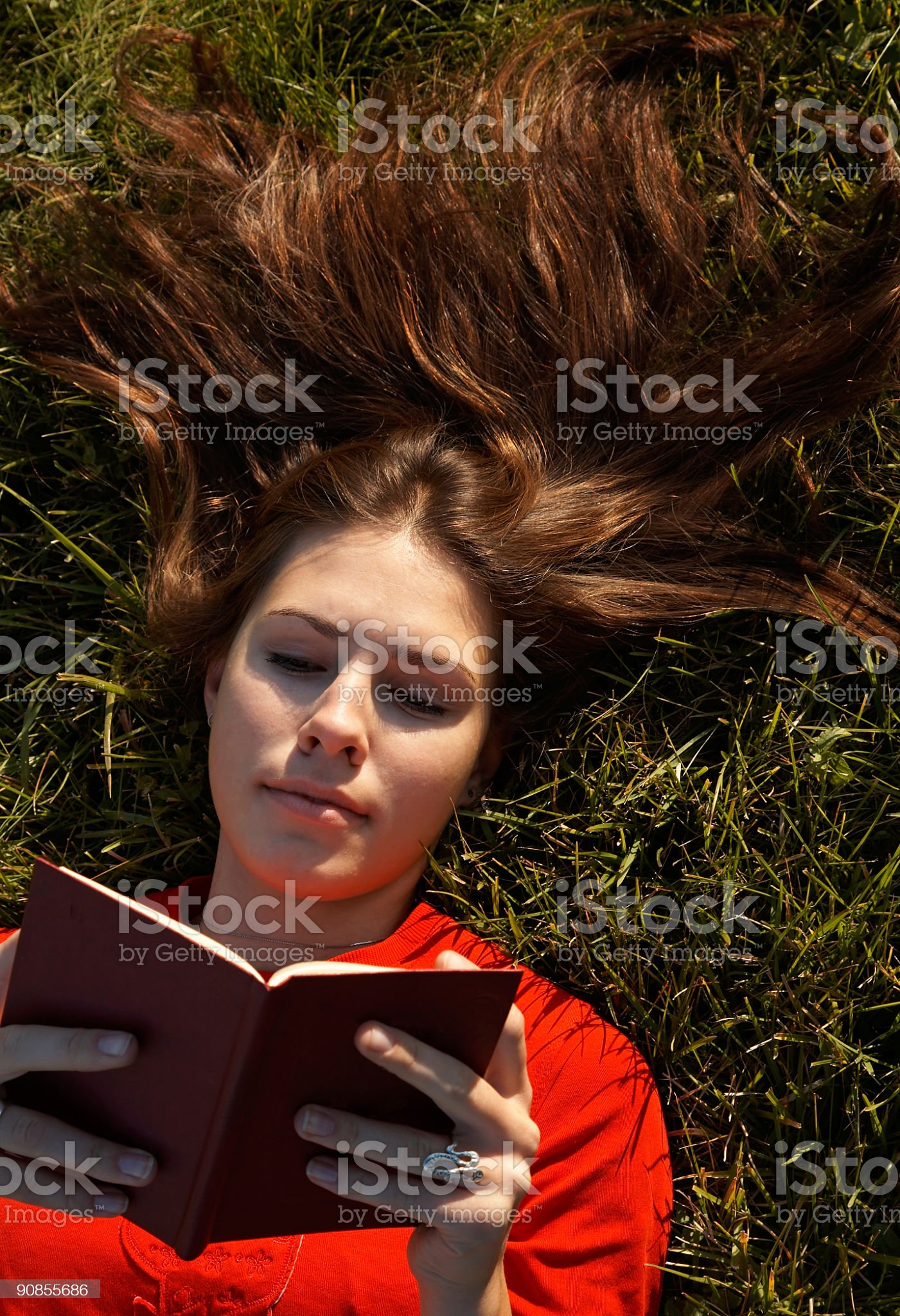 Girls on the grass royalty-free stock photo