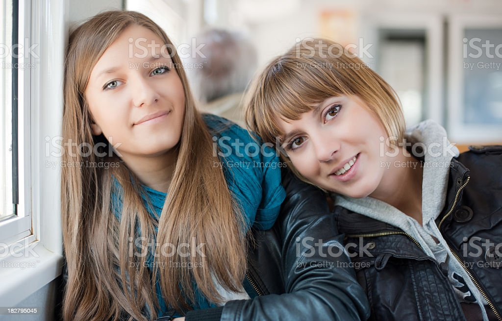 Girls on the way royalty-free stock photo