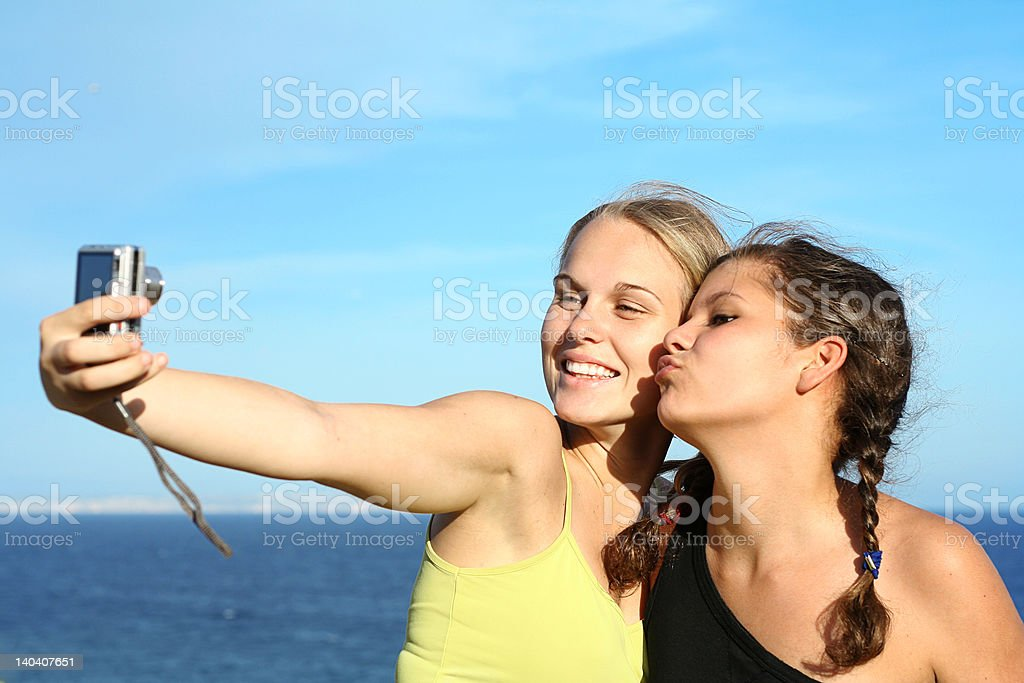 girls on vacation royalty-free stock photo