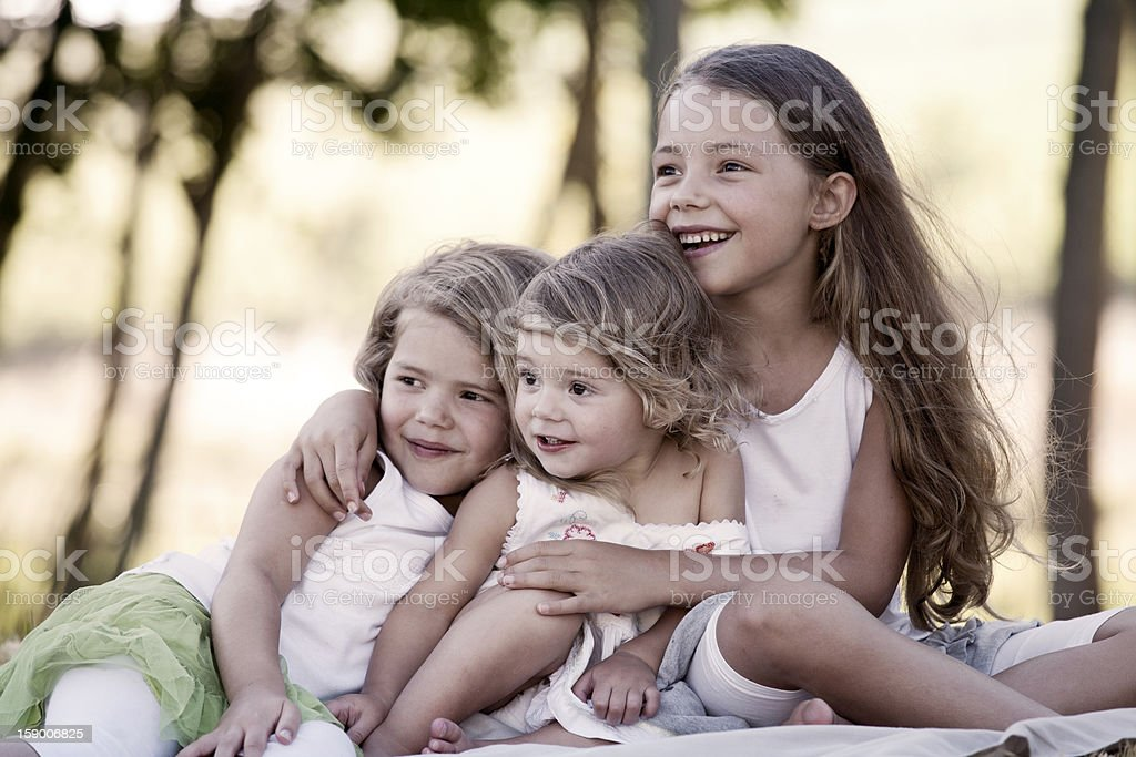 Girls outside royalty-free stock photo