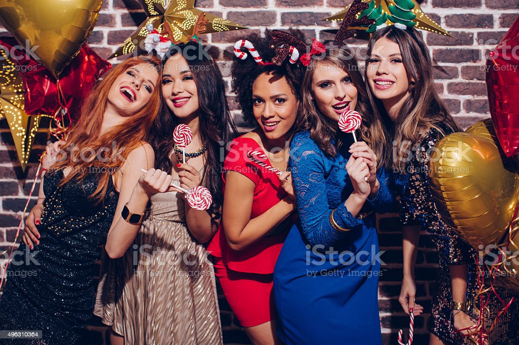 Girls party. stock photo