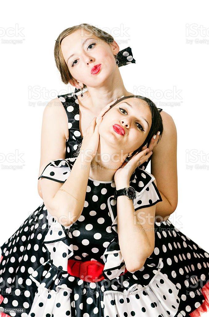 Girls pin-up style stock photo