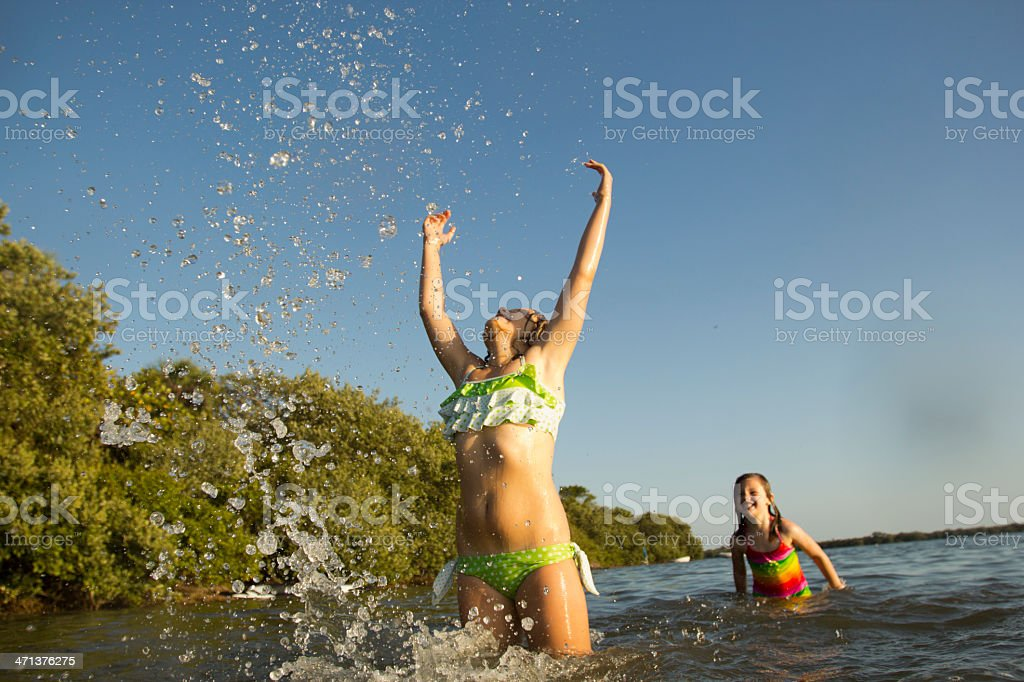 Girls playing stock photo