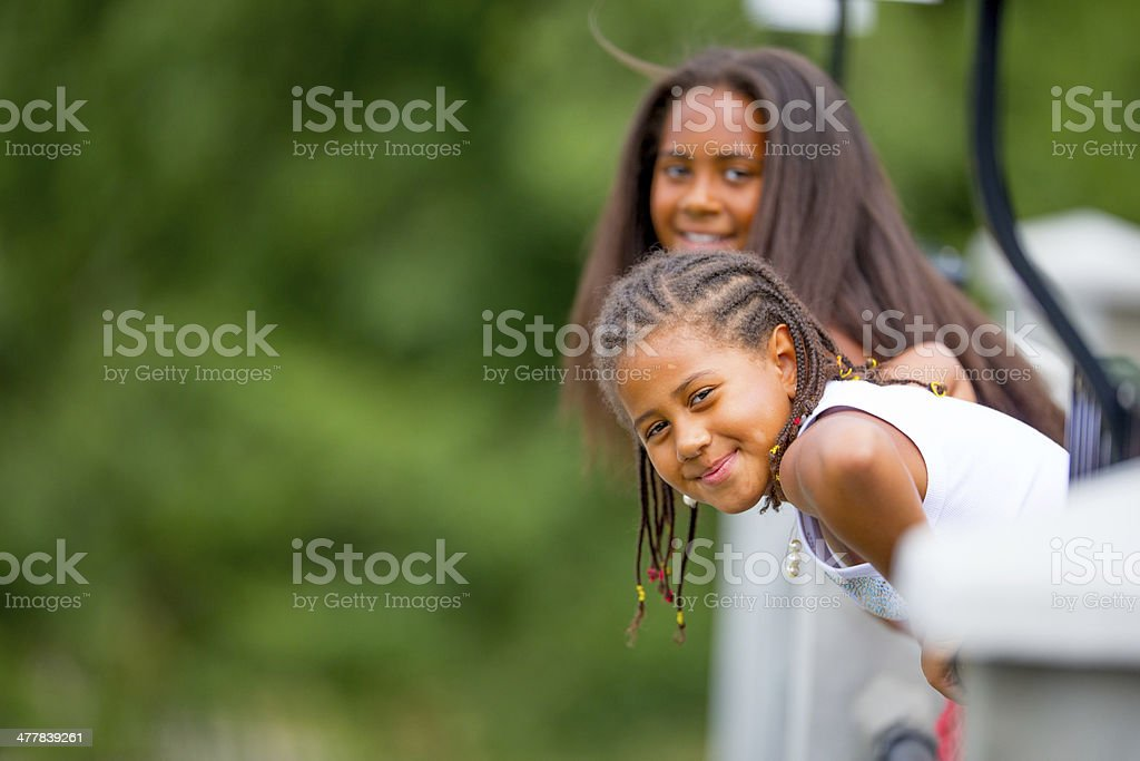 Girls portrait outdoors royalty-free stock photo