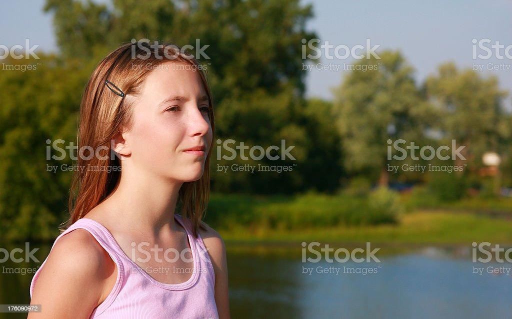 girl's portrait stock photo