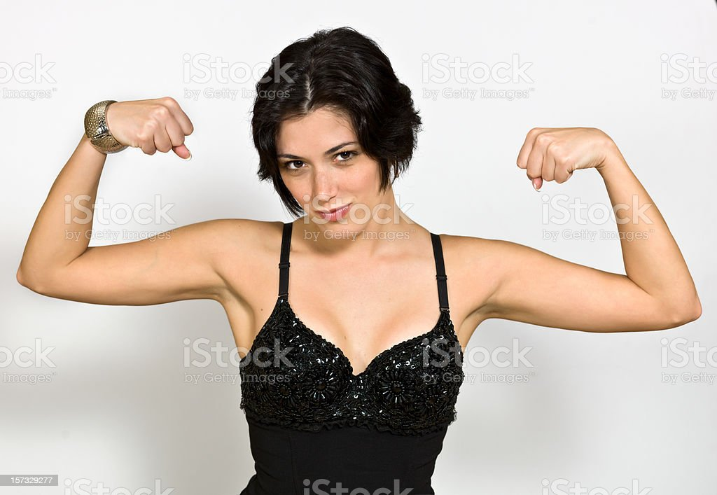 Girl's power stock photo