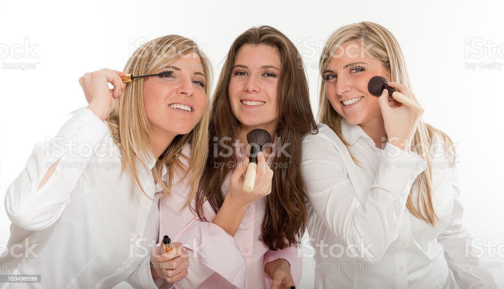 Girls preparing to go out royalty-free stock photo