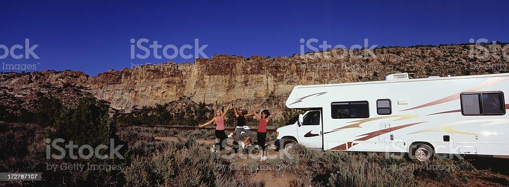 Girls Road Trip royalty-free stock photo