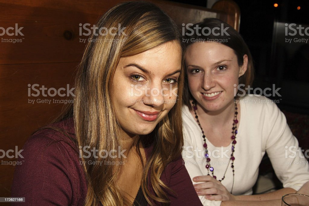girls seated at a restaurant royalty-free stock photo