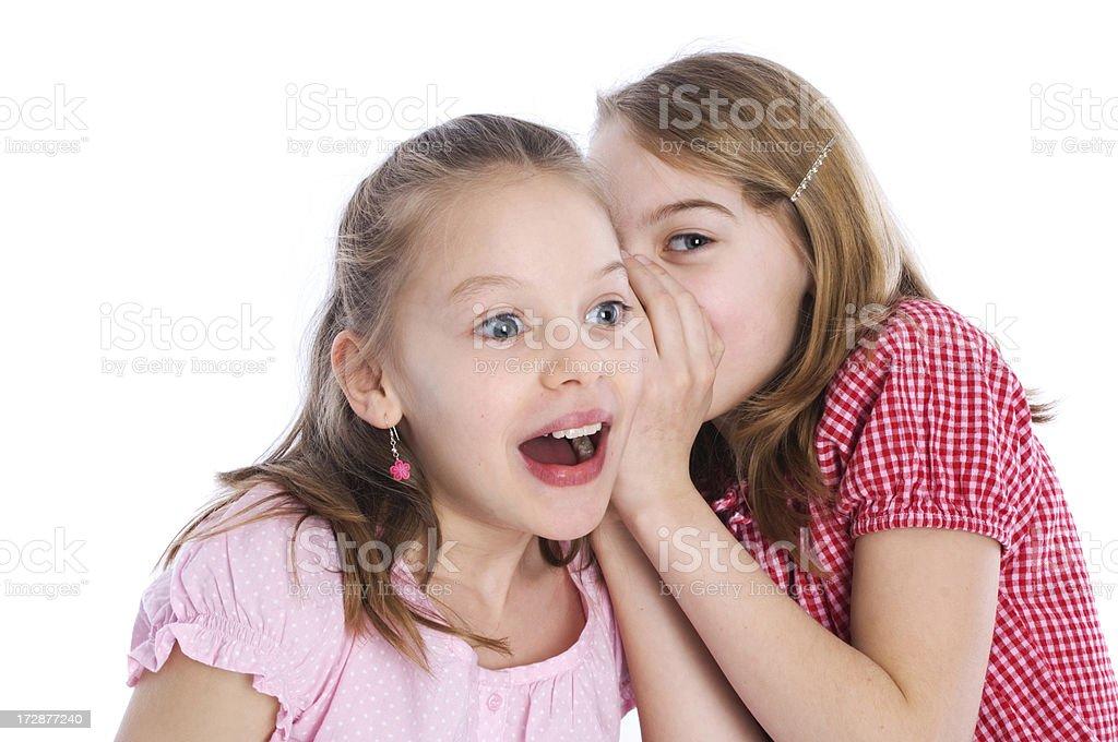 Girls secrets royalty-free stock photo