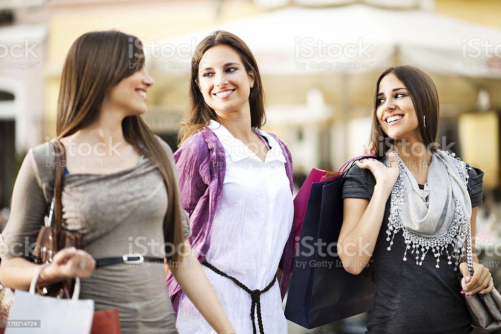 Girls shopping. royalty-free stock photo