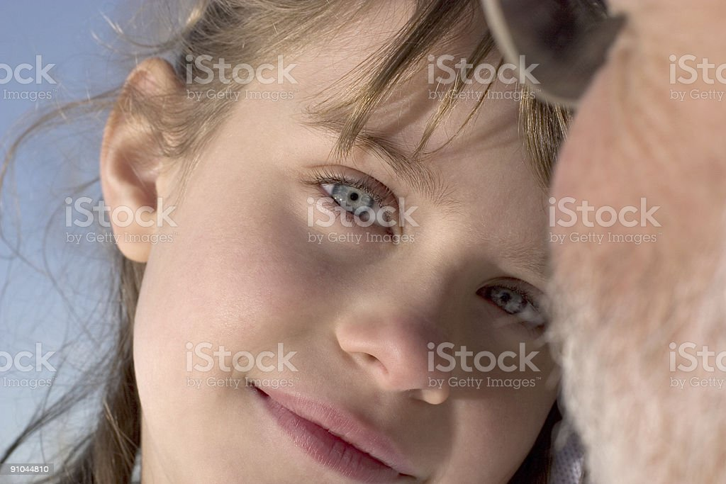 Girls smile royalty-free stock photo