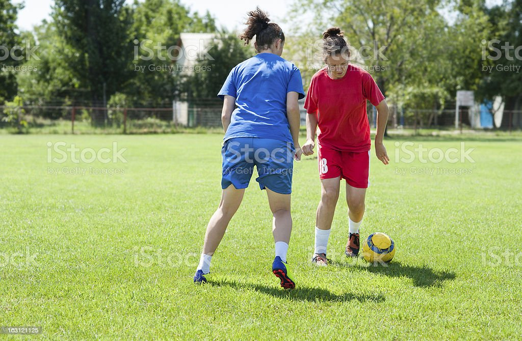 girls soccer royalty-free stock photo