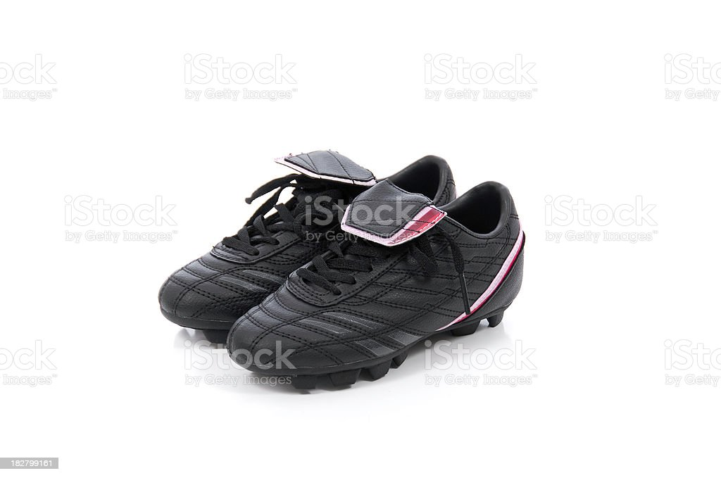 Girls Soccer Shoes stock photo