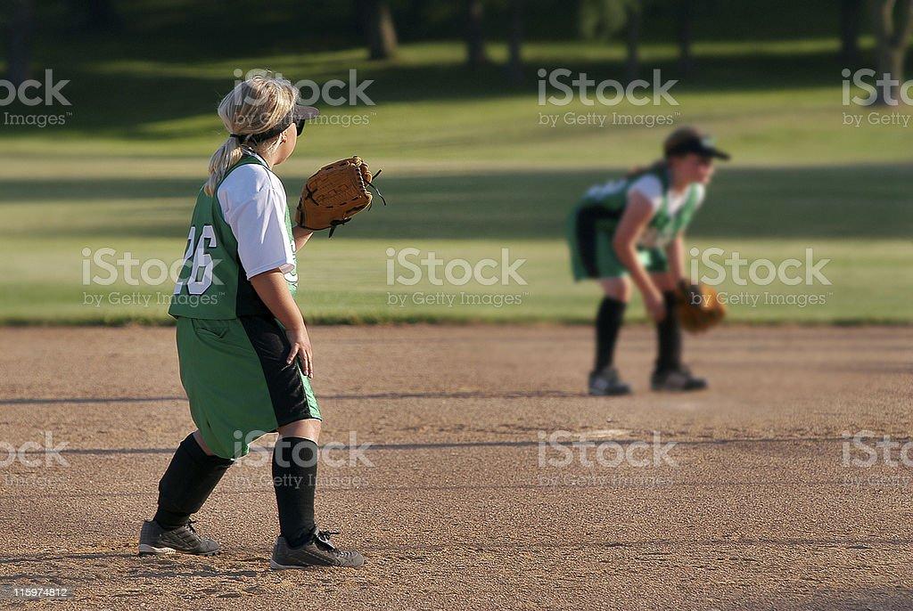 Girls Softball stock photo