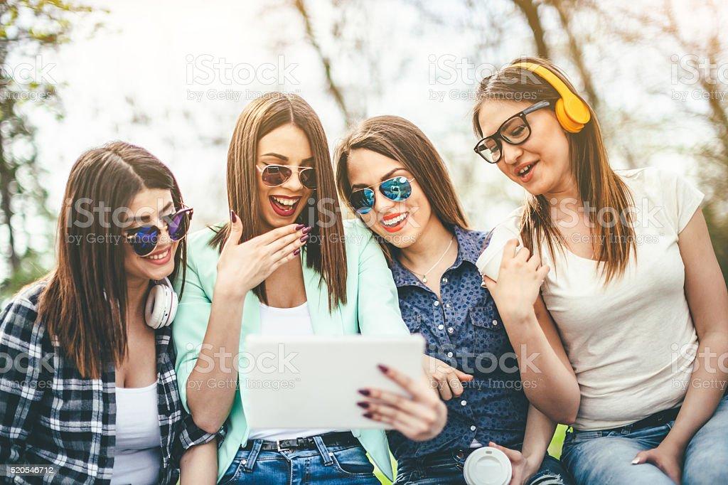 girls talk stock photo