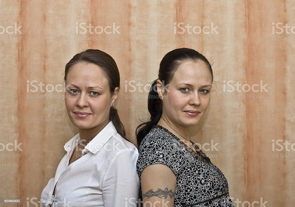 Girls Twins royalty-free stock photo