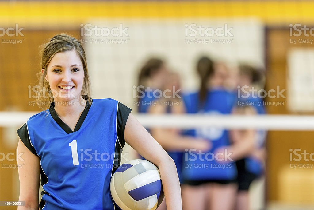 Girls Varsity Volleyball stock photo