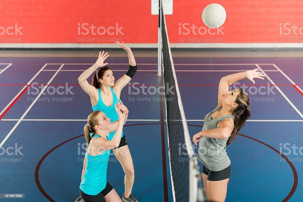 Girls Volleyball stock photo